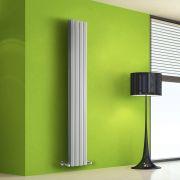 Radiatore di Design Verticale Doppio - Bianco - 1600mm x 280mm x 86mm - 983 Watt - Rombo