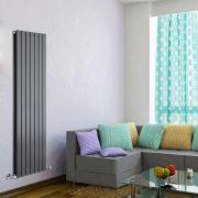 Radiatore di Design Verticale Doppio - Antracite - 1600mm x 490mm x 60mm - 1543 Watt - Delta