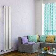 Radiatore di Design Verticale  - Bianco - 1600mm x 350mm x 47mm - 733 Watt - Delta