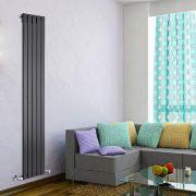 Radiatore di Design Verticale  - Nero - 1780mm x 350mm x 47mm - 823 Watt - Delta