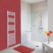 Radiatore Scaldasalviette Elettrico Curvo - Cromato - 1800mm x 500mm x 45mm - Ischia