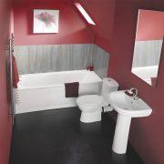Kit Completo per Stanza da Bagno con Vasca, Lavabo e Sanitario in Stile Moderno