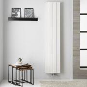 Radiatore di Design Verticale  Doppio con Attacco Centrale - Alluminio - Bianco - 1800mm x 375mm x 67mm  - 1439 Watt - Kett