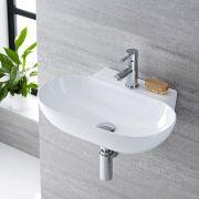 Lavabo Bagno Sospeso in Ceramica Ovale 555x395mm - Otterton