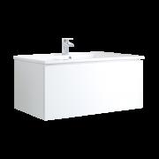 Mobile Bagno Murale 1000mm con Lavabo Integrato Colore Bianco Opaco - Newington