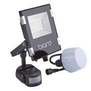 Biard Faro Proiettore Piatto Nero 20W con Sensore PIR o Sensore Crepuscolare