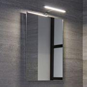 Specchio per Stanza da Bagno  500x700mm con Pensile LED - Biwa