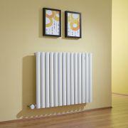 Radiatore di Design Elettrico Orizzontale - Bianco - 635mm x 834mm x 56mm  - Elemento Termostatico 1000W  - Revive