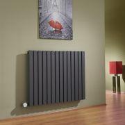 Radiatore di Design Elettrico Orizzontale - Antracite - 635mm x 834mm x 54mm  - Elemento Termostatico 1000W  - Sloane