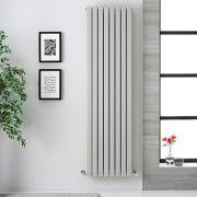 Radiatore di Design Verticale Doppio - Grigio Chiaro - 1780mm x 472mm x 72mm - 1931 Watt - Sloane