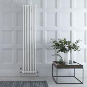 Radiatore di Design Verticale Doppio Tradizionale - Bianco - 1800mm x 383mm x 68mm - 1245 Watt - Regent