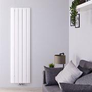 Radiatore di Design Verticale con Attacco Centrale - Alluminio - Bianco - 1600mm x 470mm x 46mm - 1701 Watt - Aurora