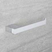 Porta Rotolo Carta Igienica Murale Minimalista Cromato
