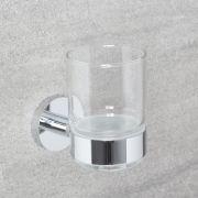 Bicchiere Porta Spazzolino e Porta Bicchiere Murale in Stile Classico