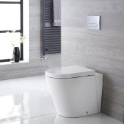 Sanitario Bagno WC Ovale 460x360x565mm con Sedile Copri WC Soft Close -  Alswear