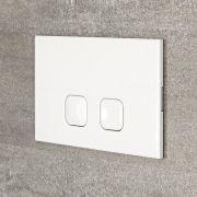 Placca di Comando WC Bianca per Cassetta a Incasso 150x230mm - Cluo