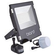 Biard Faretto Proiettore Piatto Nero 50W con Sensor PIR o Sensore Crepuscolare