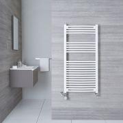 Radiatore Scaldasalviette Misto Curvo - Bianco - 1200mm x 600mm x 50mm - 766 Watt - Etna