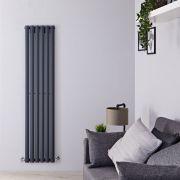 Radiatore di Design Verticale - Antracite - 1600mm x 354mm x 56mm - 841 Watt - Revive