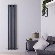Radiatore di Design Verticale - Antracite - 1600mm x 354mm x 81mm - 958 Watt - Savy