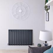 Radiatore di Design Orizzontale - Antracite - 635mm x 980mm x 46mm - 876 Watt - Delta