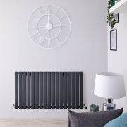 Radiatore di Design Orizzontale - Antracite - 635mm x 1190mm x 46mm - 1064 Watt - Delta