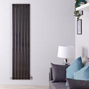 Radiatore Design Verticale Nero Disponibile in Diverse Misure - Delta