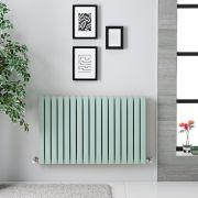 Radiatore di Design Orizzontale Doppio - Verde Menta Chiaro  - 635mm x 1000mm x 71mm - 1022 Watt - Sloane