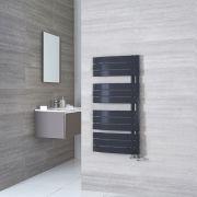 Radiatore Scaldasalviette - Curvo-  Panelli Orizzontali - Acciaio - Antracite - 1080 x 550 mm - 500 Watt