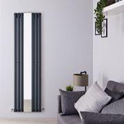 Radiatore Scaldasalviette Tradizionale - Acciaio - Cromato e Nero - 945x640mm - 1030 Watt - President