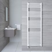 Radiatore Scaldasalviette Elettrico Curvo - Bianco - 1800mm x 500mm x 45mm - Etna