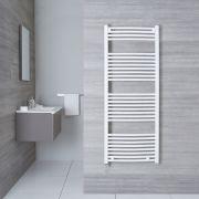 Radiatore Scaldasalviette Elettrico Curvo - Bianco - 1500mm x 600mm x 50mm - Etna