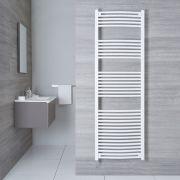 Radiatore Scaldasalviette Elettrico Curvo - Bianco - 1800mm x 600mm x 50mm - Etna