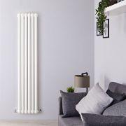 Radiatore di Design Verticale Doppio Tradizionale - Bianco - 1800mm x 383mm x 80mm - 1489 Watt - Saffre