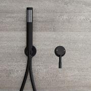 Miscelatore Doccia Manuale ad Incasso Nero ad 1 Via Completo di Doccetta - Nox
