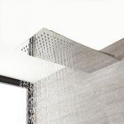 Soffione Rettangolare Ultrasottile Slimline 500mm x 200mm Effetto Pioggia e Cascata