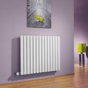 Radiatore di Design Elettrico Orizzontale - Bianco - 635mm x 834mm x 54mm  - Elemento Termostatico 1000W  - Sloane