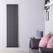 Radiatore di Design Verticale  - Antracite - 1780mm x 472mm x 53mm - 1196 Watt - Sloane