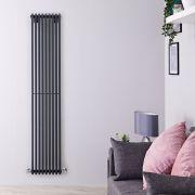 Radiatore di Design Verticale  - Antracite - 1780mm x 342mm x 84mm - 1177 Watt - Fin