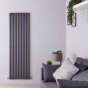 Radiatore di Design Verticale - Antracite - 1780mm x 560mm x 60mm - 1401 Watt - Rombo
