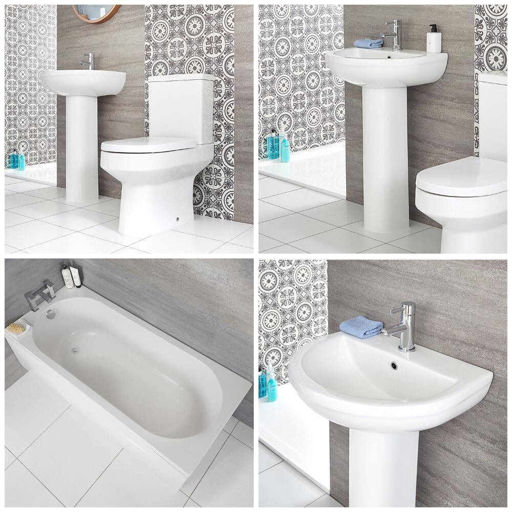 Immagini Di Bagni Moderni set bagno moderno completo di vasca, lavabo con colonna e sanitario filo  parete – covelly