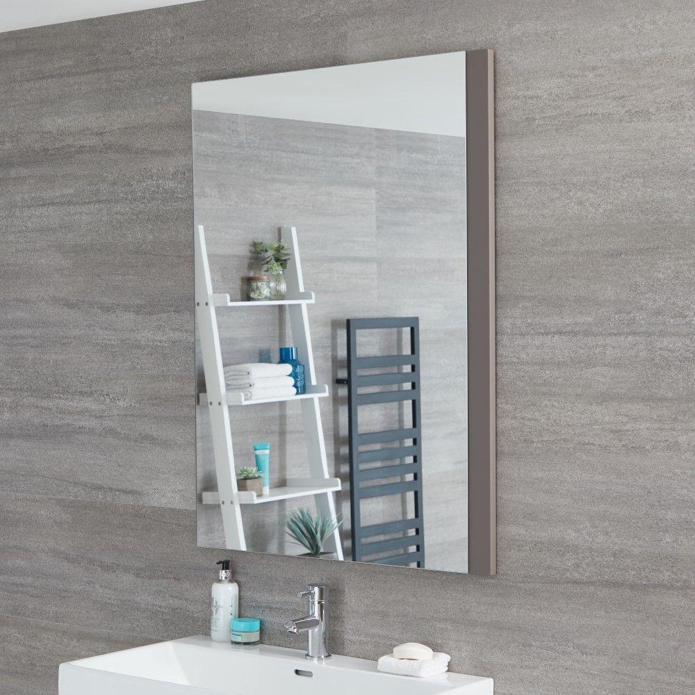Specchio Per Lavandino Angolare specchio bagno murale 750x1000mm colore grigio opaco - newington