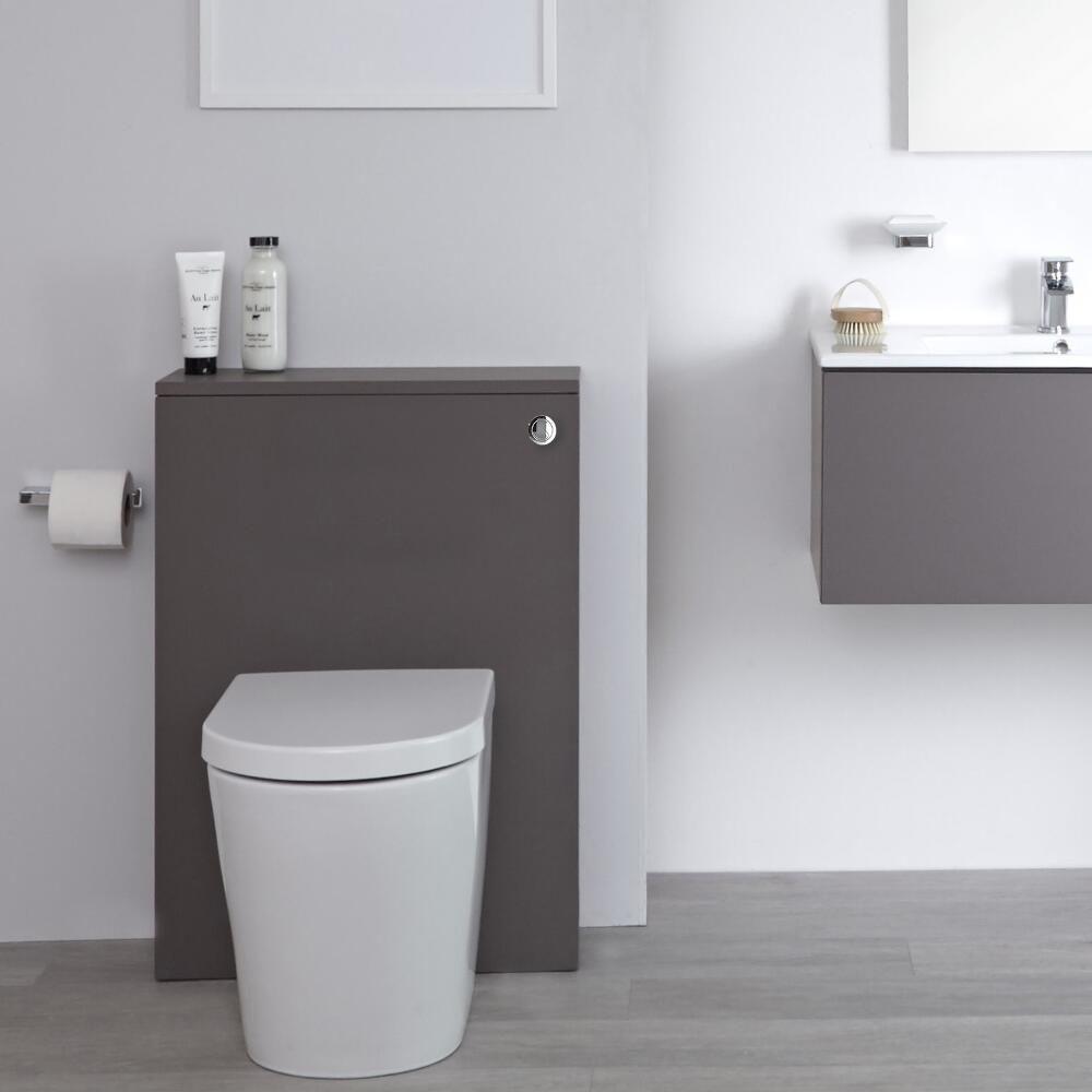 Mobile Bagno Per Asciugamani mobile wc per stanza da bagno 600mm colore grigio opaco - newington
