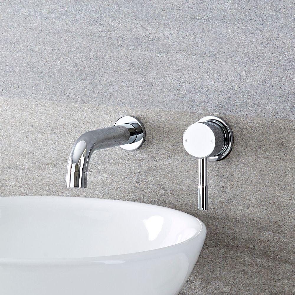 Miscelatore A Muro Per Lavabo rubinetto miscelatore per lavabo ad incasso a parete - mirage