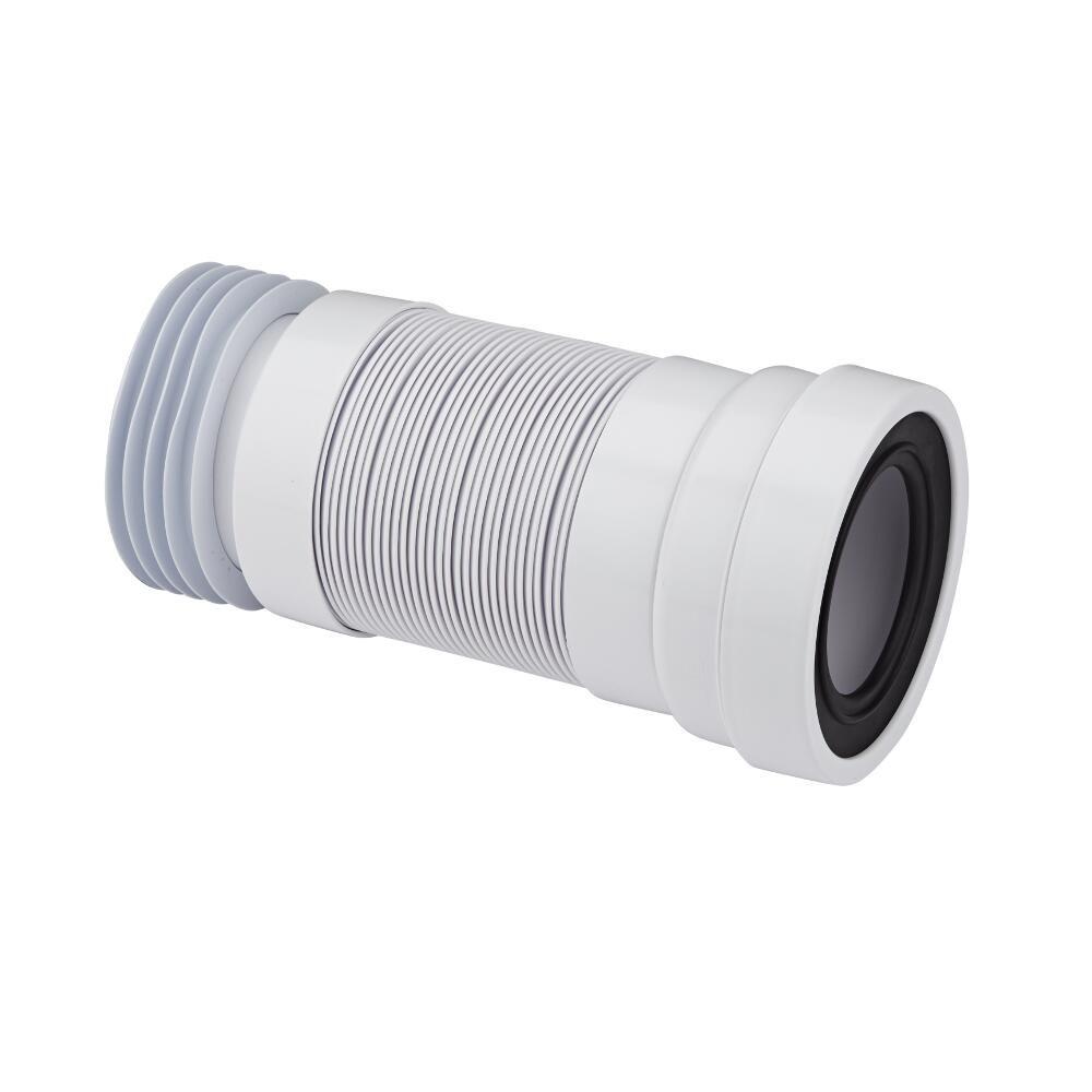 Tubi Per Scarico Bagno manicotto flessibile tubo di raccordo wc estensibile entrata 97-107mm e  uscita 110mm propilene mcalpine
