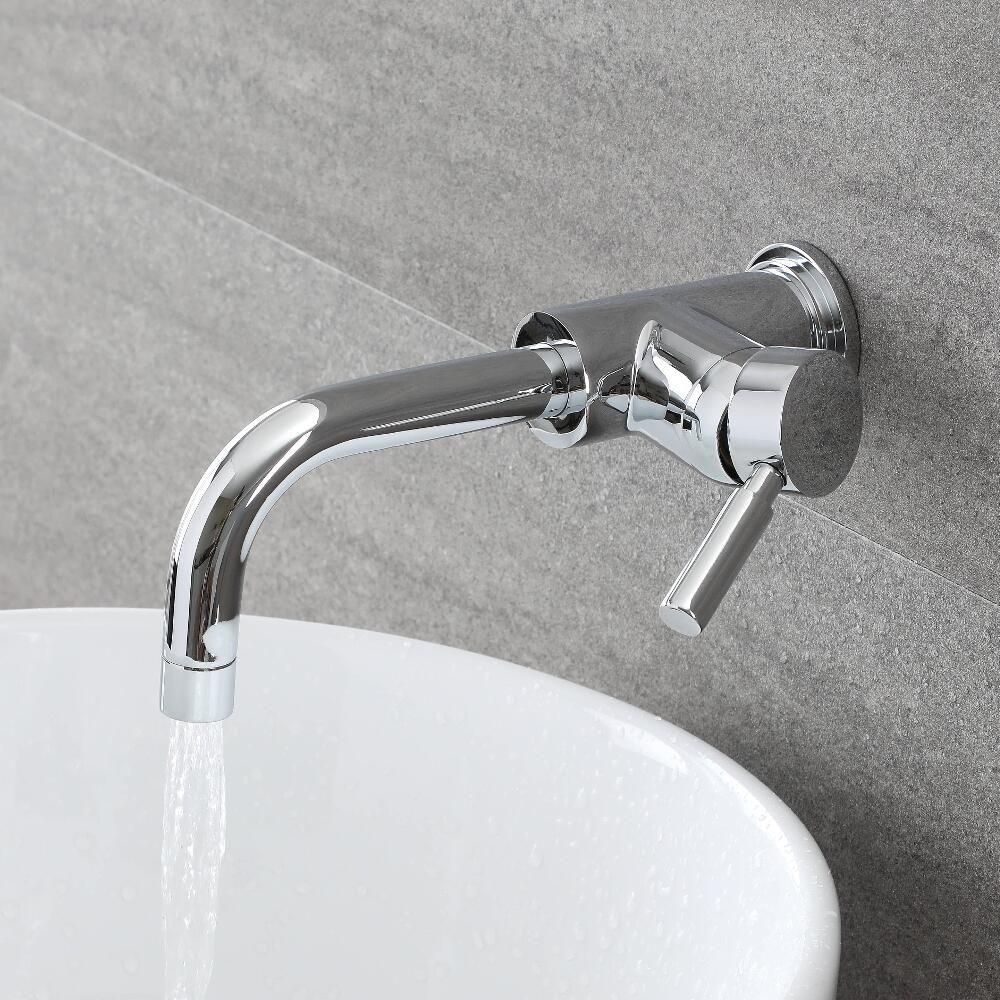 Miscelatore A Muro Per Lavabo rubinetto miscelatore per lavabo a parete - tec