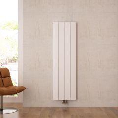Radiatore di Design Verticale con Attacco Centrale - Alluminio - Bianco - 1600mm x 375mm x 45mm - 1361 Watt - Aurora