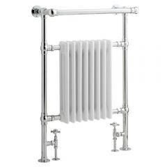 Radiatore Scaldasalviette Tradizionale - Cromato e Bianco - 930mm x 620mm x 219mm - 699 Watt - Marchesa