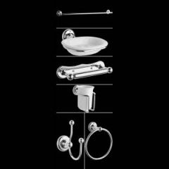 Set di Accessori per Bagno con 6 Articoli Cromati