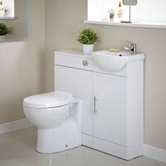 Mobile Bagno Bianco con Lavabo e WC